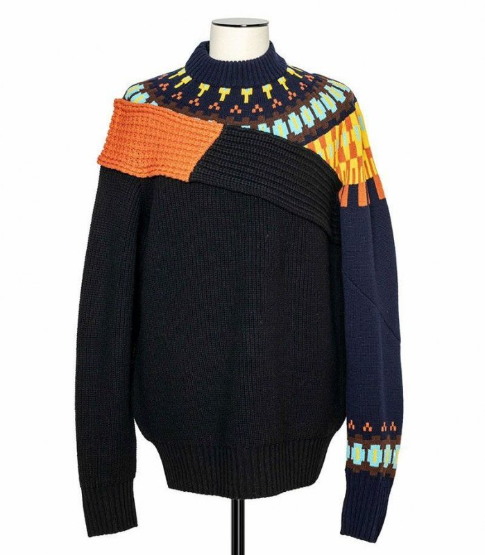 <img class='new_mark_img1' src='https://img.shop-pro.jp/img/new/icons50.gif' style='border:none;display:inline;margin:0px;padding:0px;width:auto;' />[sacai] サカイ 21-02610M Wool Knit Pullover