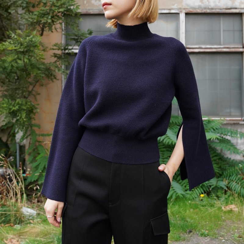 <img class='new_mark_img1' src='https://img.shop-pro.jp/img/new/icons50.gif' style='border:none;display:inline;margin:0px;padding:0px;width:auto;' />[PHEENY] フィーニー Half cardigan open sleeve knit(NAVY)