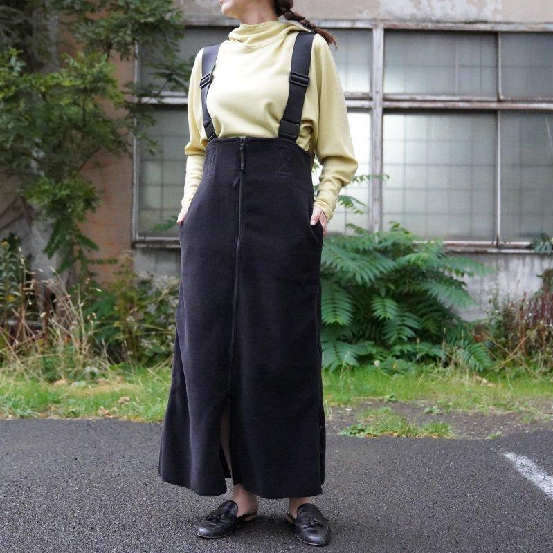 <img class='new_mark_img1' src='https://img.shop-pro.jp/img/new/icons50.gif' style='border:none;display:inline;margin:0px;padding:0px;width:auto;' />[PHEENY] フィーニー Polartec fleece salopette skirt(BLACK)