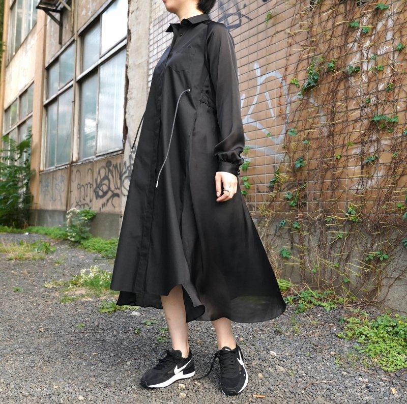 <img class='new_mark_img1' src='https://img.shop-pro.jp/img/new/icons6.gif' style='border:none;display:inline;margin:0px;padding:0px;width:auto;' />[sacai] サカイ 21-05825 Cotton Poplin x Satin Dress(BLACK)