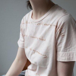 ヒノキ薄 アルミ媒染 染め Tシャツ サイズ1、3