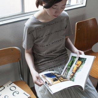 泥×グレー染め Tシャツ サイズ1、2、3、4