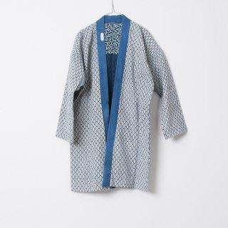 藍染コート 唐草