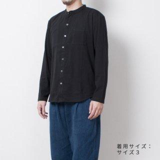レッドカシミヤOGスタンドカラーシャツ ブラック