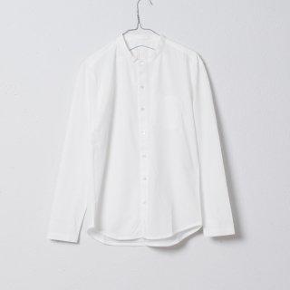 SUVIN GOLD スタンドカラーシャツ オフホワイト