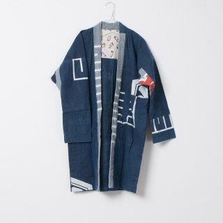藍染コート たぬき