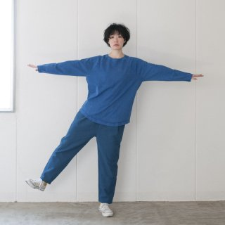 ラグラン9分袖Tシャツ スモークブルー