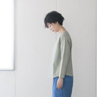 ラグラン9分袖Tシャツ スモークグリーン