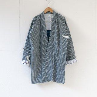藍染コート ストライプ