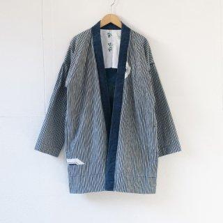 藍染コート ストライプ2