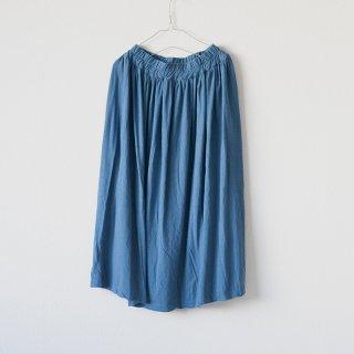 ギャザースカート ブルー(プール)