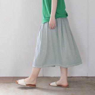 ギャザースカート サックス(シャーベット)