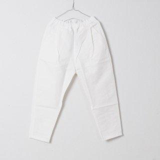 バフクロスパンツ 綿麻素材 ホワイト