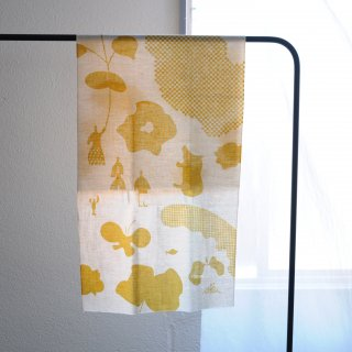 SIOME  オーガニックコットン 手ぬぐい/綿花の循環とそこにある情景 芥子色