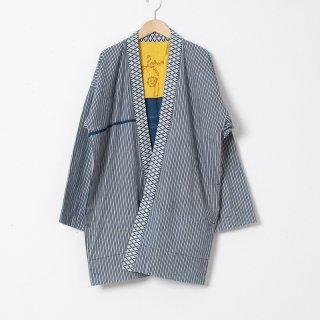 藍染コート ストライプ3