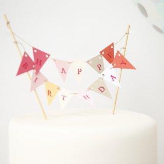ケーキトッパー pink