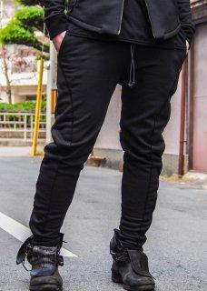 Acrylic Coated Track Pants - Black