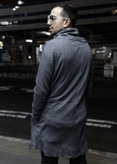 <img class='new_mark_img1' src='https://img.shop-pro.jp/img/new/icons8.gif' style='border:none;display:inline;margin:0px;padding:0px;width:auto;' />Washi High Neck Long Cut&Sewn - Navy