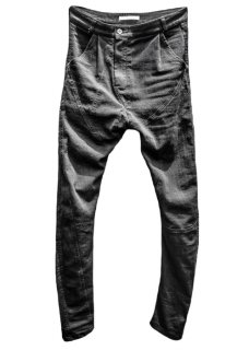 Black Thirty Pieces Irregular Cut Stretch Denim Pants