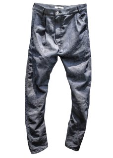 Indigo Thirty Pieces Irregular Cut Stretch Denim Pants