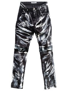 <img class='new_mark_img1' src='https://img.shop-pro.jp/img/new/icons8.gif' style='border:none;display:inline;margin:0px;padding:0px;width:auto;' />White Coated Stretch Cut Slim Pants