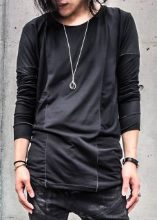 Fine Extra Long Staple Supima Cotton Long Sleeve Cut&Sewn - Black×OW