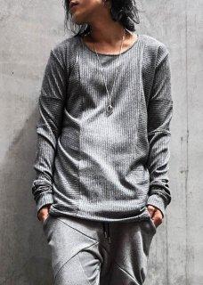 Washi Stripe Jersey Long Sleeve Cut&Sewn - Darknight