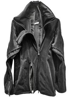 Exclusive Multiple Zip High Neck Stretch Suede Jacket