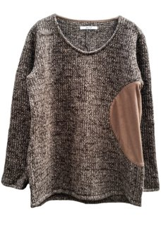 <img class='new_mark_img1' src='https://img.shop-pro.jp/img/new/icons29.gif' style='border:none;display:inline;margin:0px;padding:0px;width:auto;' />Circular Cut Sliver Pullover Knit - Brown