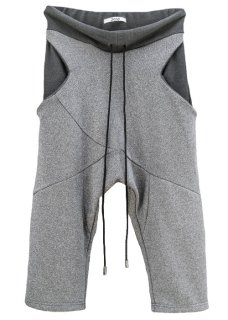 <img class='new_mark_img1' src='https://img.shop-pro.jp/img/new/icons8.gif' style='border:none;display:inline;margin:0px;padding:0px;width:auto;' />Japanesepaper Drop Crotch Cropped Slim Pants - Gray