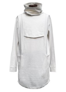 <img class='new_mark_img1' src='https://img.shop-pro.jp/img/new/icons8.gif' style='border:none;display:inline;margin:0px;padding:0px;width:auto;' />Heavy Cotton Jersey High Neck Long Cut&Sewn - White