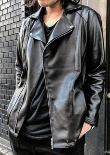 <img class='new_mark_img1' src='https://img.shop-pro.jp/img/new/icons8.gif' style='border:none;display:inline;margin:0px;padding:0px;width:auto;' />Lamb Leather Riders Jacket - Black