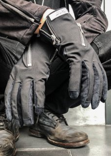 <img class='new_mark_img1' src='https://img.shop-pro.jp/img/new/icons8.gif' style='border:none;display:inline;margin:0px;padding:0px;width:auto;' />Ice Suede Jersey Zip Glove - Black