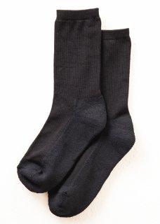 <img class='new_mark_img1' src='https://img.shop-pro.jp/img/new/icons14.gif' style='border:none;display:inline;margin:0px;padding:0px;width:auto;' />Silk&Japanesepaper Deodorize Crew Socks - Black