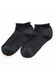 <img class='new_mark_img1' src='https://img.shop-pro.jp/img/new/icons14.gif' style='border:none;display:inline;margin:0px;padding:0px;width:auto;' />Silk&Japanesepaper Deodorize Sneaker Socks - Black