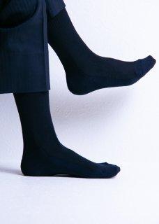 <img class='new_mark_img1' src='https://img.shop-pro.jp/img/new/icons14.gif' style='border:none;display:inline;margin:0px;padding:0px;width:auto;' />Silk&Japanesepaper Deodorize Crew Socks - Navy×Black