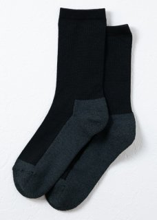 <img class='new_mark_img1' src='https://img.shop-pro.jp/img/new/icons14.gif' style='border:none;display:inline;margin:0px;padding:0px;width:auto;' />Silk&Japanesepaper Deodorize Crew Socks - Gray×Black