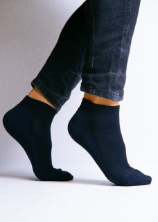 <img class='new_mark_img1' src='https://img.shop-pro.jp/img/new/icons14.gif' style='border:none;display:inline;margin:0px;padding:0px;width:auto;' />Silk&Japanesepaper Deodorize Sneaker Socks - Navy×Black