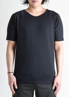 <img class='new_mark_img1' src='https://img.shop-pro.jp/img/new/icons14.gif' style='border:none;display:inline;margin:0px;padding:0px;width:auto;' />Zero Japanesepaper Short Raglan Sleeve T-shirt - Black