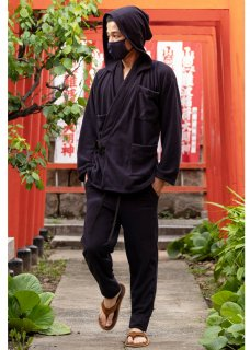 <img class='new_mark_img1' src='https://img.shop-pro.jp/img/new/icons14.gif' style='border:none;display:inline;margin:0px;padding:0px;width:auto;' />Zero Monk's Relax Wear (Tops&Pants) - Black