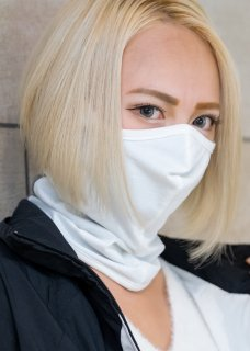 <img class='new_mark_img1' src='https://img.shop-pro.jp/img/new/icons14.gif' style='border:none;display:inline;margin:0px;padding:0px;width:auto;' />Stretch Japanesepaper 3D Mask Neckwarmer - White×Gray