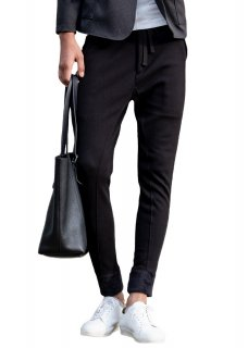 <img class='new_mark_img1' src='https://img.shop-pro.jp/img/new/icons14.gif' style='border:none;display:inline;margin:0px;padding:0px;width:auto;' />Mouton Jersey Stretch Easy Pants - Black