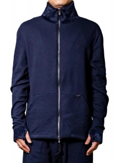 <img class='new_mark_img1' src='https://img.shop-pro.jp/img/new/icons14.gif' style='border:none;display:inline;margin:0px;padding:0px;width:auto;' />Mouton Jersey Stretch Zip Up Jacket - Navy