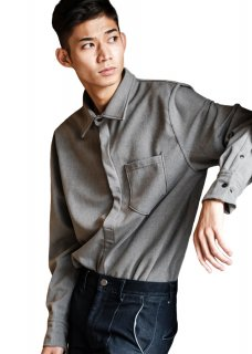 <img class='new_mark_img1' src='https://img.shop-pro.jp/img/new/icons14.gif' style='border:none;display:inline;margin:0px;padding:0px;width:auto;' />Warm Comfortable Pullover Stretch Shirt - Gray