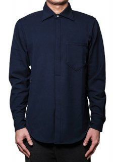 <img class='new_mark_img1' src='https://img.shop-pro.jp/img/new/icons14.gif' style='border:none;display:inline;margin:0px;padding:0px;width:auto;' />Warm Comfortable Pullover Stretch Shirt - Navy