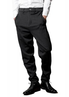 <img class='new_mark_img1' src='https://img.shop-pro.jp/img/new/icons14.gif' style='border:none;display:inline;margin:0px;padding:0px;width:auto;' />Zero Stretch Japanesepaper Jersey Easy Trousers - Black