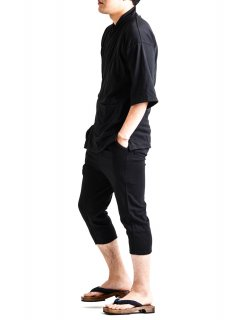 <img class='new_mark_img1' src='https://img.shop-pro.jp/img/new/icons14.gif' style='border:none;display:inline;margin:0px;padding:0px;width:auto;' />Zero Stretch Japanesepaper Relax Monk Wear - Black