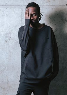 <img class='new_mark_img1' src='https://img.shop-pro.jp/img/new/icons14.gif' style='border:none;display:inline;margin:0px;padding:0px;width:auto;' />Zero Stretch Japanesepaper Dolman Pull Over - Black