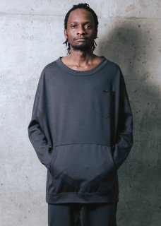 <img class='new_mark_img1' src='https://img.shop-pro.jp/img/new/icons14.gif' style='border:none;display:inline;margin:0px;padding:0px;width:auto;' />Zero Stretch Japanesepaper Dolman Pull Over - Gray