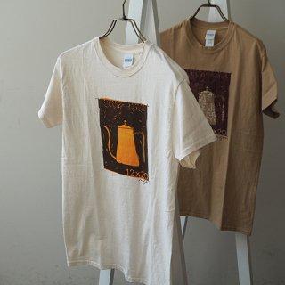 シルクスクリーン・Tシャツ(十二ヵ月ドリップポット) / size-S